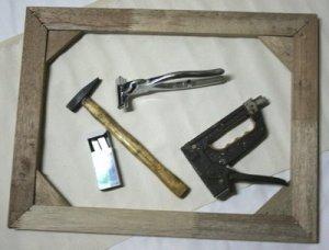 tips dan trik menempel kain kanvas di atas kayu spanram